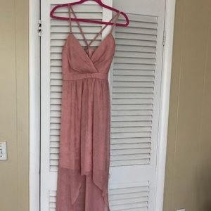 Max & Cleo high low pink dress
